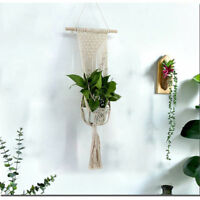 Art Simple Style Macrame Hanging Basket Planter Holder Wall Hanging Tapestry Dec
