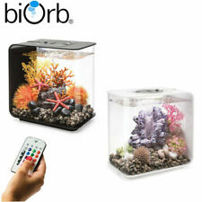 Oase BiOrb Flow 15 Aquarium Fish Tank MCR LED Light Filter Black White 15L