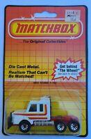 Matchbox MOC 1985 Scania T142 Semi White Macau Vintage