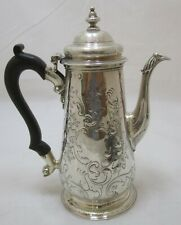 Good Antique Georgian Sterling silver coffee pot, 1742, Richard Gurney, 531g
