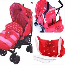 Zeta Baby Girl Bow Polka Dots Stroller Buggy Pram Pushchair