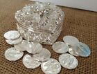 Wedding Arras Silver Plated /Unity Coins/ Heart Shaped Keepsake / Arras De Boda