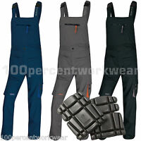 Delta Plus Panoply M2SAL Work Bib + Brace Overalls Dungarees Trousers + Kneepads