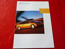 Opel Astra G Coupe 1.8 16v 2.2 16v 2.0 turbo 2.2 DTI folleto + lista de precios 2003