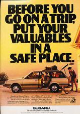 1988 Subaru 4wd wagon Classic Advertisement Ad P81