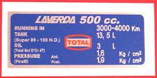 LAVERDA capacidades de 500/Tanque de 13.5 litros Calcomanía De Neumáticos
