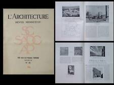 L'ARCHITECTURE 1938 HOWARD ROBERTSON, MALLET STEVENS, SOUCHERE, SONREL, TSCHUMI