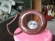 1970s Western Electric BROWN DONUT SCULPTURA ROTARY Phone tested works great