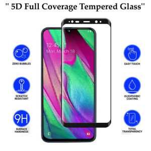 5D Anti Scratch 9H Tempered Glass Screen Protector for Samsung Galaxy A40
