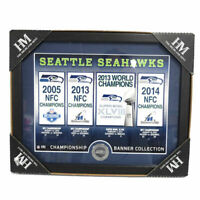 NFL Seattle Seahwaks Highland Mint Super Bowl Champions Banner Collection