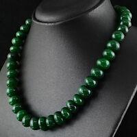 Brillant élégante 1118.00 cts Natural Rich Red Ruby Round Beads Collier DG