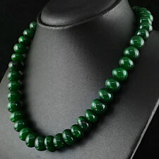 AMAZING 548.00 CTS EARTH MINED RICH GREEN EMERALD ROUND SHAPE BEADS NECKLACE