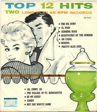 "DIVERS ""12 TOP HITS"" POP ROCK AND ROLL DOUBLE 50'S EP PROMENADE A-54-11"