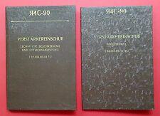 2 x Buch Verstärkereinschub R4C-90 Betriebsanleitung Begleitheft 1984 ( F15983