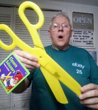 Yellow Jumbo Clown Scissors plastic toy store grand opening beauty shop display