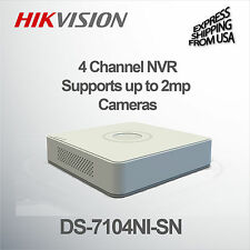 Hikvision  4 Channel Mini NVR HD 1080P Supports Up to 2 MP Cameras DS-7104NI-SN