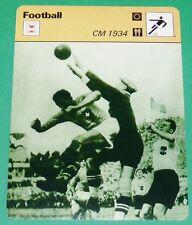 FOOTBALL COUPE DU MONDE 1934 ITALIA-ÖSTERREICH FIN DU WUNDERTEAM PETER PLATZER