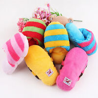 Dog Cat Toy Pet Puppy Chew Play Squeaker Squeaky Sound Plush Slipper Shape、Pop