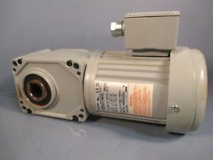 BROTHER GEAR MOTOR 10:1 RATIO 0.25 HP 170 RPM 3 PH RIGHT ANGLE F3S25N010-BMK4A