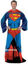 DC COMICS Super Hero Superman Comfy THROW Fleece Blanket w/Sleeves Snuggie