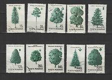 flore les pins  ROUMANIE 1994 série de 10 timbres oblitérés /T1722