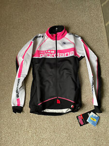 Giordana Womens Frc Team Jacket - White/ Fluo Pink - XS