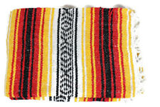 Mexican Falsa Blanket In Red & Yellow Theme Throw Mat Yoga Rug New Genuine