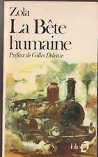 La Bête Humaine - Emile Zola . Tibor Csernus en couverture ( locomotive vapeur)