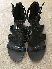 Steve Madden leather gladiator studded sandals