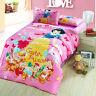 Disney Kids Bedding Quilt Duvet Cover Set Single Twin 3-Piece Cotton New
