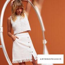 Anthropologie Pilcro Denim Fringed Skirt 6P