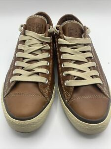 Leather Converse All Star Sneakers Brown  M 10 W 12, Pinecone soles, New