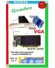 WINDOWS 10 DUAL Monitor Video Card. x16.1 PCI-e. With driver CD NVS-300