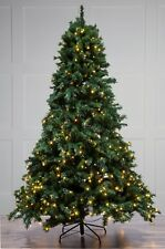 240CM (8FT) Pre Lit Green Christmas Tree With 700 Warm White Leds