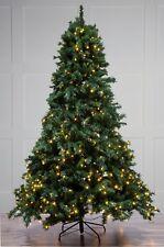 240 cm (8 FT (ca. 2.44 m)) Pre Illuminato Verde Albero di Natale con 700 LED Bianco Caldo
