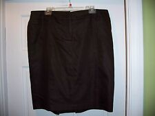 ALYX Brown Knee Length Size 14 Skirt Stretchy Cotton Blend Belt hoops