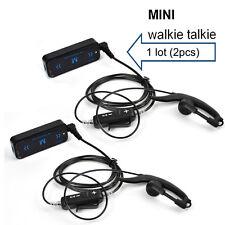 2 x HYS Super MINI Walkie Talkie UHF 400-480 USB Supply Black with earpiece USB