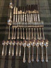 Stunning Hiram Wild 38pc Hastings 1066 Epns Al Sheffield Cutlery Set