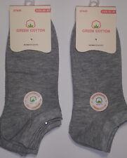 6 Pares calcetines deportivos invisibles. Gris. 98% Algodón no olor. T 35 / 40