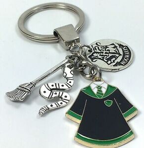 Harry Potter Keyring Slytherin Hogwarts Cloak Charm Keychain Bag Charm UK Gift