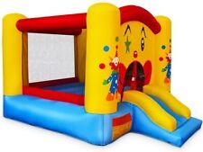 Giantex Aire de Jeu Trampoline Gonflable pour Enfants,Forme de Clown et de Châtv