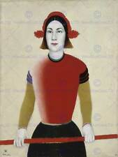 Pintura Retrato Estudio canción Malevich Girl Red Eje Art Print HP1777