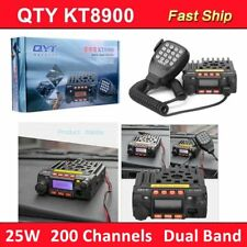 Dual Band VHF UHF Car Mobile Radio Transceiver 2 Way Radio 25W/20W Microphone GS
