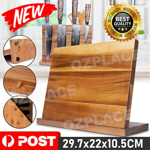 Bamboo Magnetic Knife Storage Cutlery Holder Stand Rack Block Kitchen Bar NEW