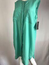 Mossimo Shirt Dress Sleeveless Buttons Pockets Lite Weight Size L (s15) Reg $25