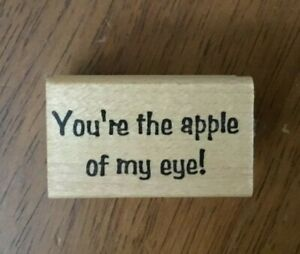 """Copper Leaf """"You're the apple of my eye!"""" mother saying Mounted Rubber Stamp"""