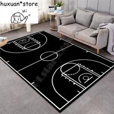 Carpet 3D Basketball Larger Mat Flannel Velvet Memory Soft Rug Play Game Baby