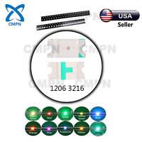 1206 3216 SMD SMT LED Chip White Red Blue Green Bi-Color  Mix Kits Light Diodes