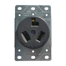 30 Amp Flush Mount Dryer Plug Receptacle 3-Wire Power Outlet 125/250V 10-30R