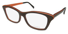 NEW GOLD & WOOD ELECTRA HOT HIGH-CLASS UPSCALE CAT EYES EYEGLASS FRAME/GLASSES